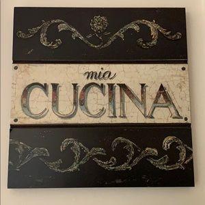 "NWT ""Mia Cucina"" Wall Hanging"